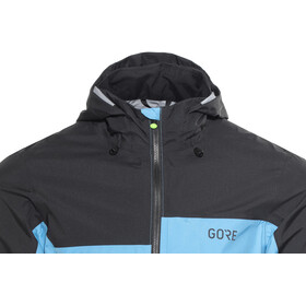 GORE WEAR C5 Gore-Tex Active Trail Hooded Jacket Men black/dynamic cyan